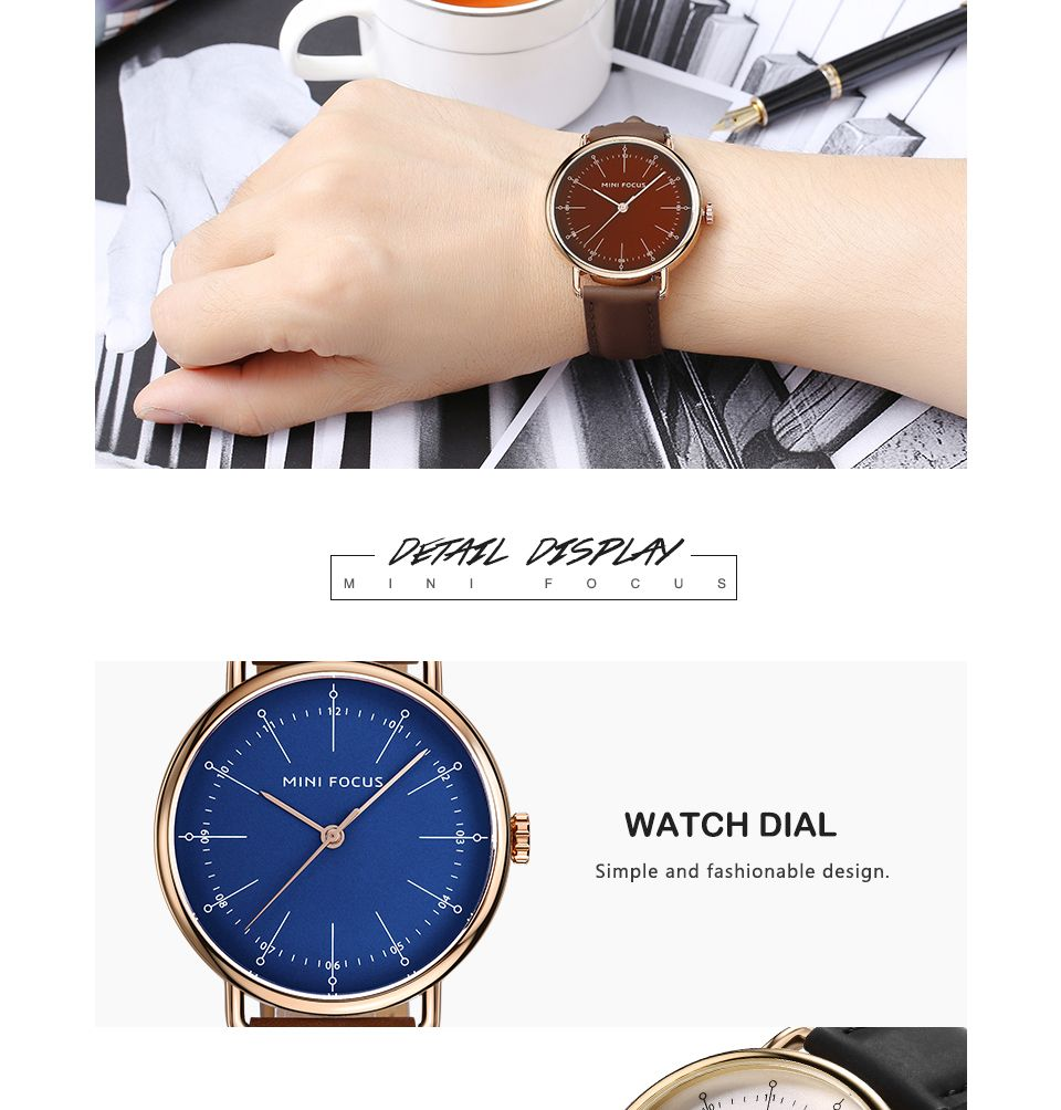 MINI FOCUS Mf0056g 4530 Fashion Contracted Dial Men Watch