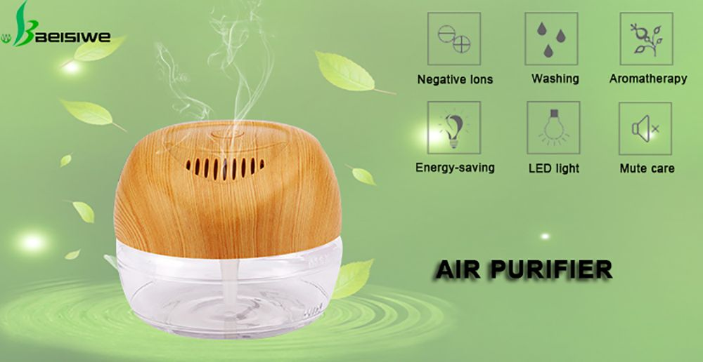Water Based Air Conditioner LED Light Negative Ions Essential Oil Purifier