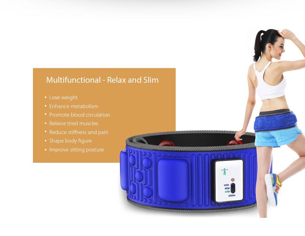 Slimming Belt X5 Times Electric Vibration Massage Machine Lose Weight Burning Fat Heating Fitness S Shape Body Figure Waist Trainer