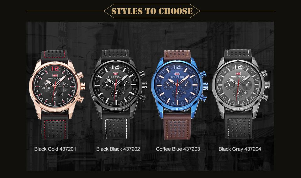 MINI FOCUS Mf0005G 4372 Dial Decor Men Watch