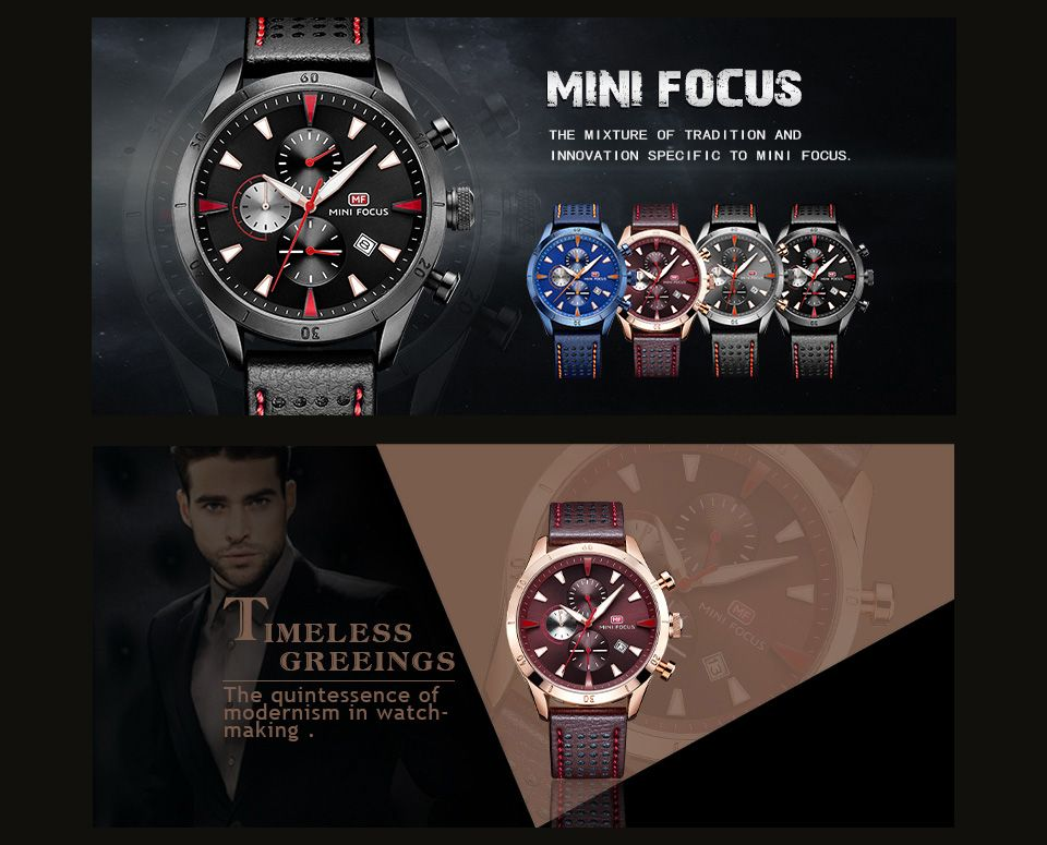 MINI FOCUS Mf0011G 4368 Multifunctional Men Watch
