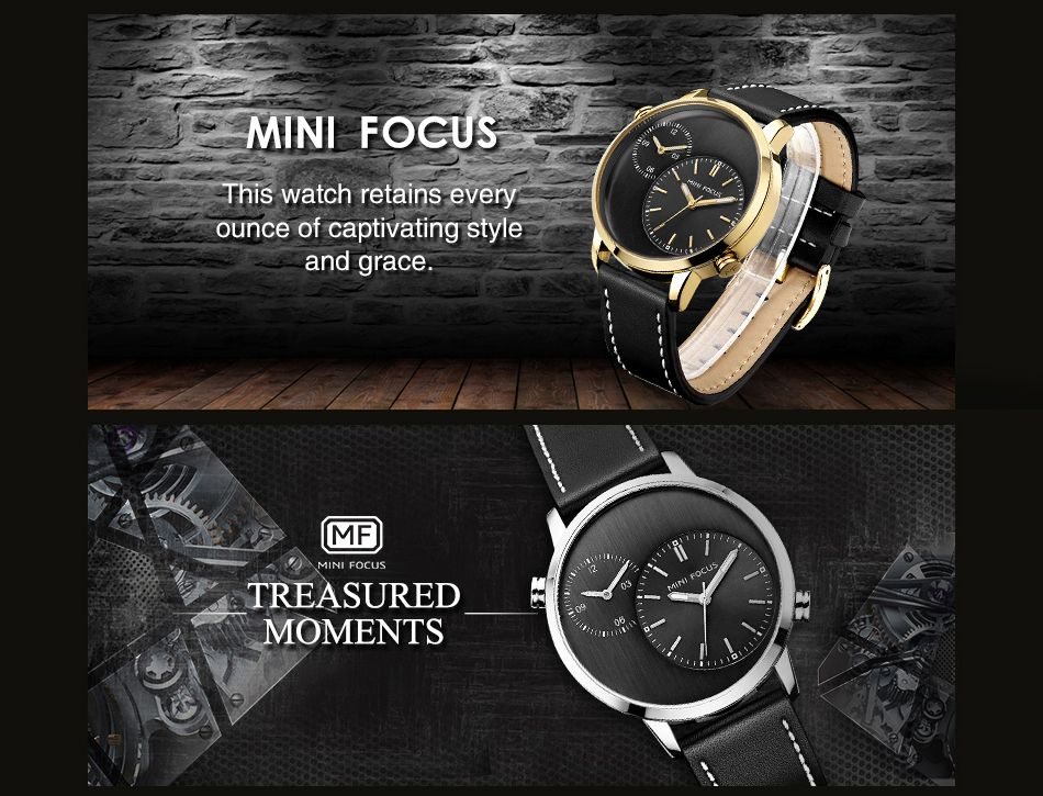 MINI FOCUS Mf0035G 4288 Double Movement Men Watch