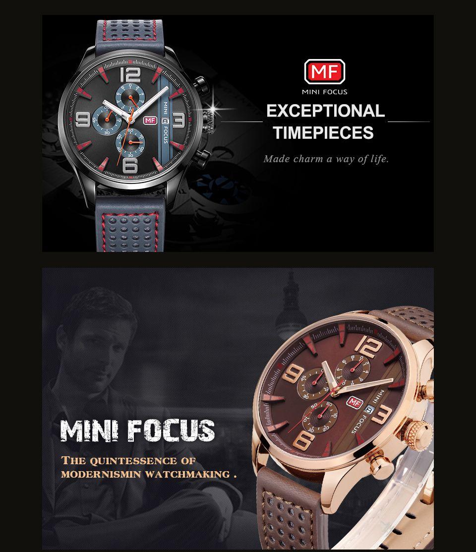 MINI FOCUS Mf0016G 4318 Multifunctional Men Watch