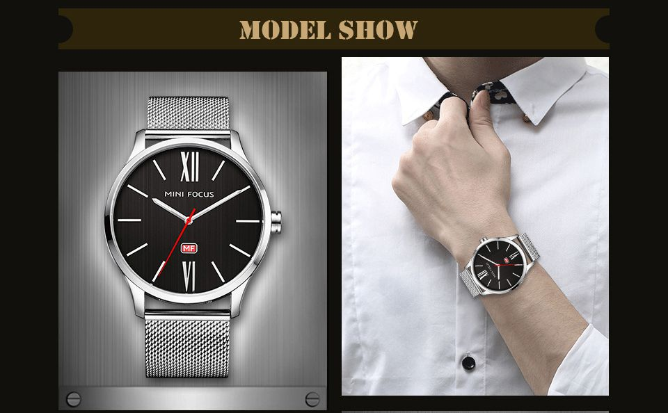 MINI FOCUS Mf0018G 4316 Fashion Steel Band Men Watch