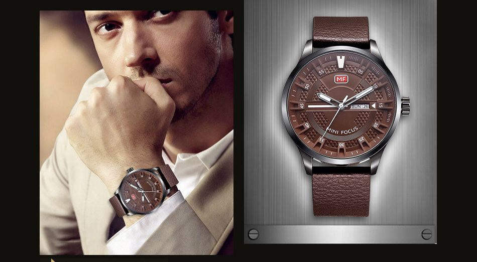 MINI FOCUS Mf0028G 4289 Fashion Calendar Display Men Watch