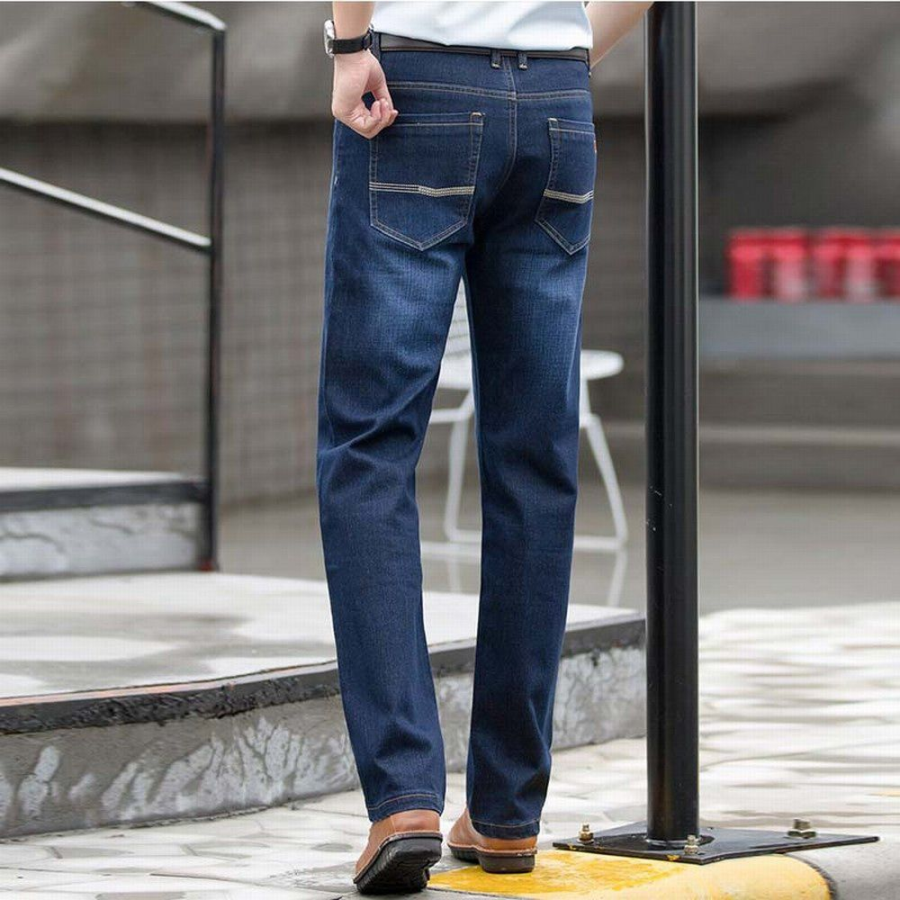 Baiyuan Trousers High Quality Smart Casual Designer Jeans Blue