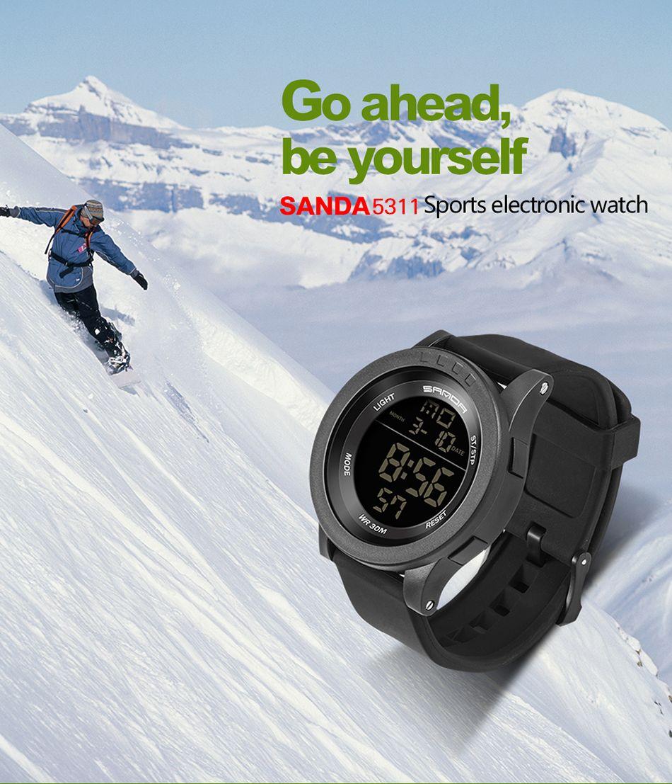 Sanda 336 5311 Leisure Multifunctional Sports Men Watch