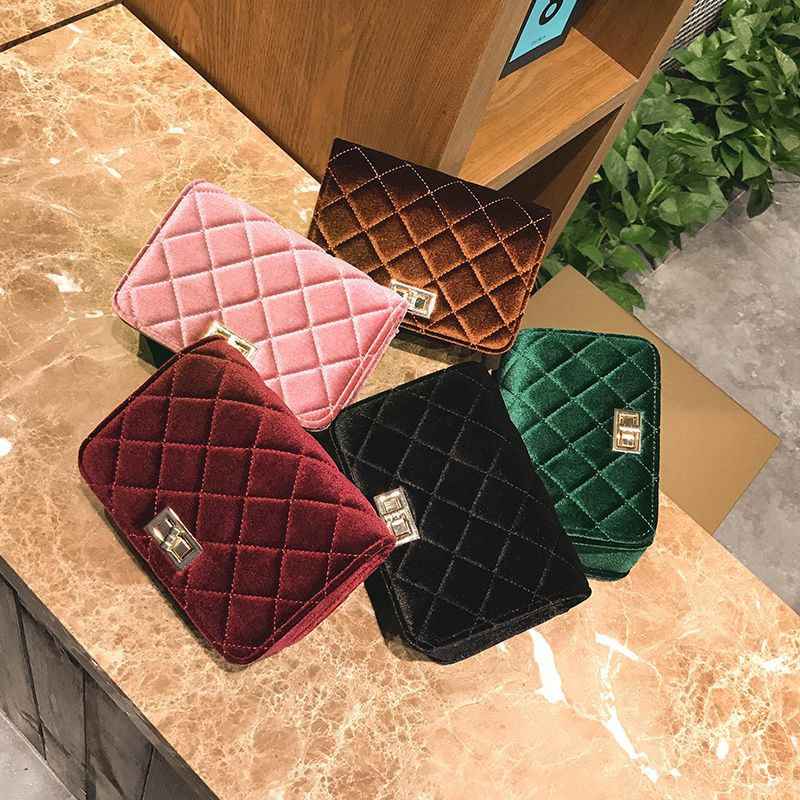 Fashion Casual Signature Pure plaid Shoulder Handbag Crossbodybagfor Women