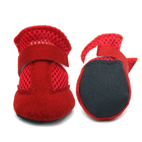 Lovoyager VSS17001 4PCS/SET Non-Slip Pet Teddy Puppy Dog Cats Casual Walking Shoes