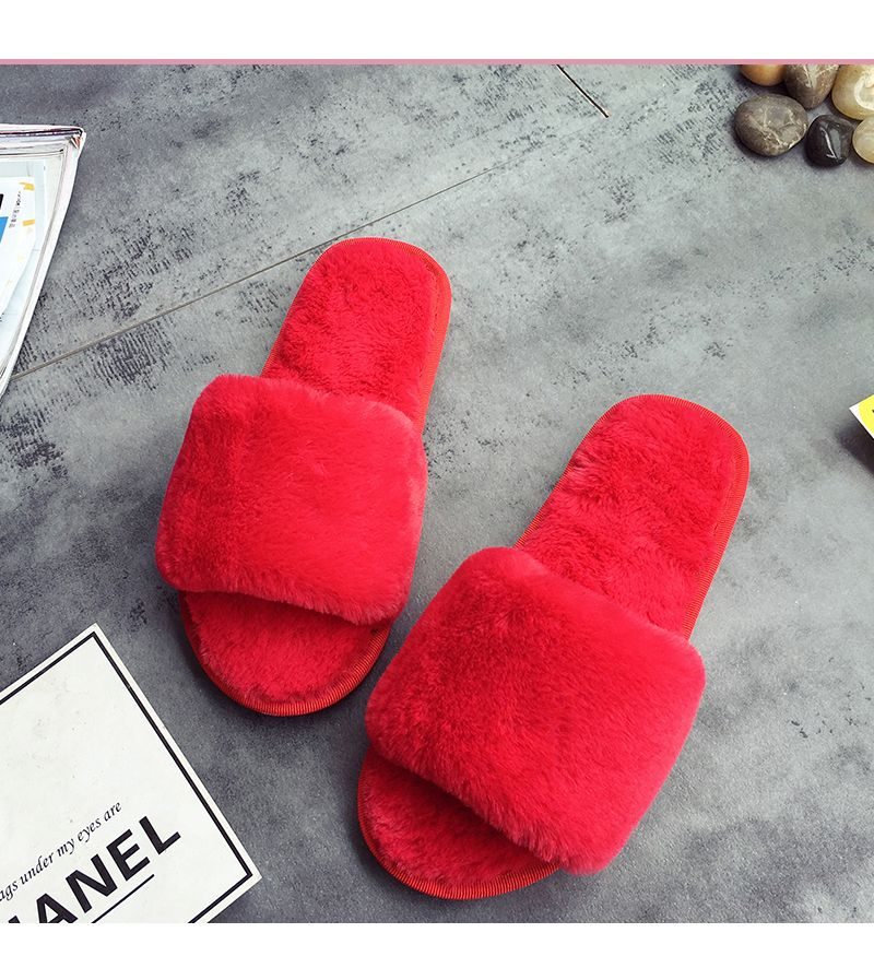 European Style Lady Slippers Warm Plush Autumn And Winter Indoor Home Cotton Slippers