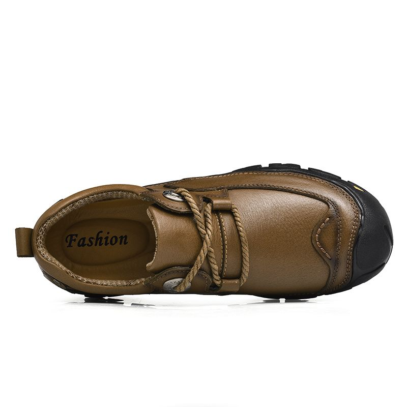 Outdoor Shoes Men'S Leisure Shoes Leather Shoes Wide Head Men'S Shoes