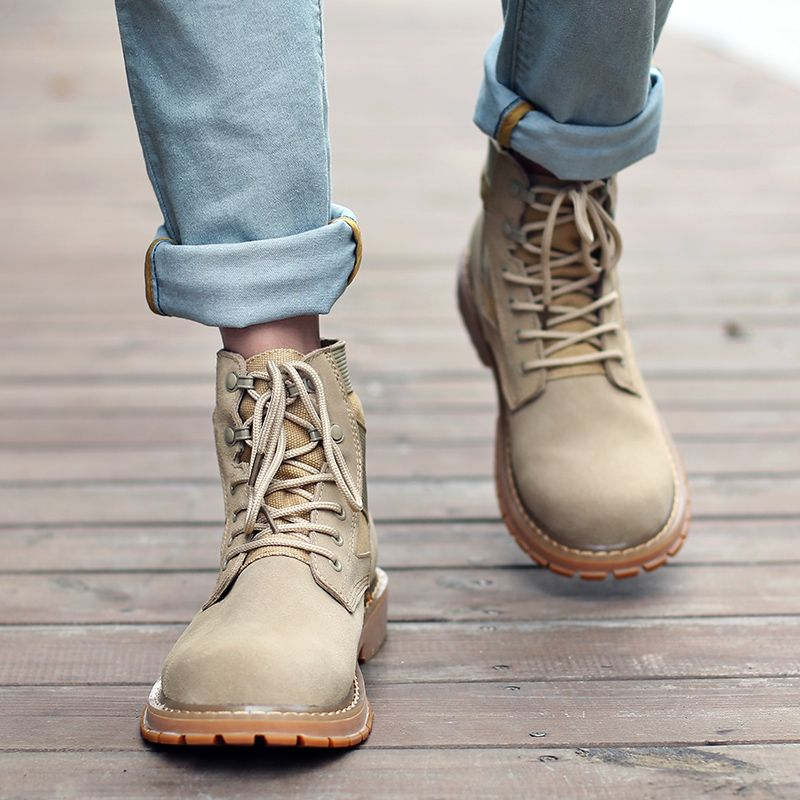 Outdoor Shoes Men'S Leisure Shoes Leather Belt with Big Head Shoe Heavy Anti-Skid