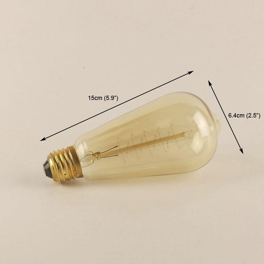 Everflower E27 40W St64 Winding Edison Retro Decorative Light Bulb