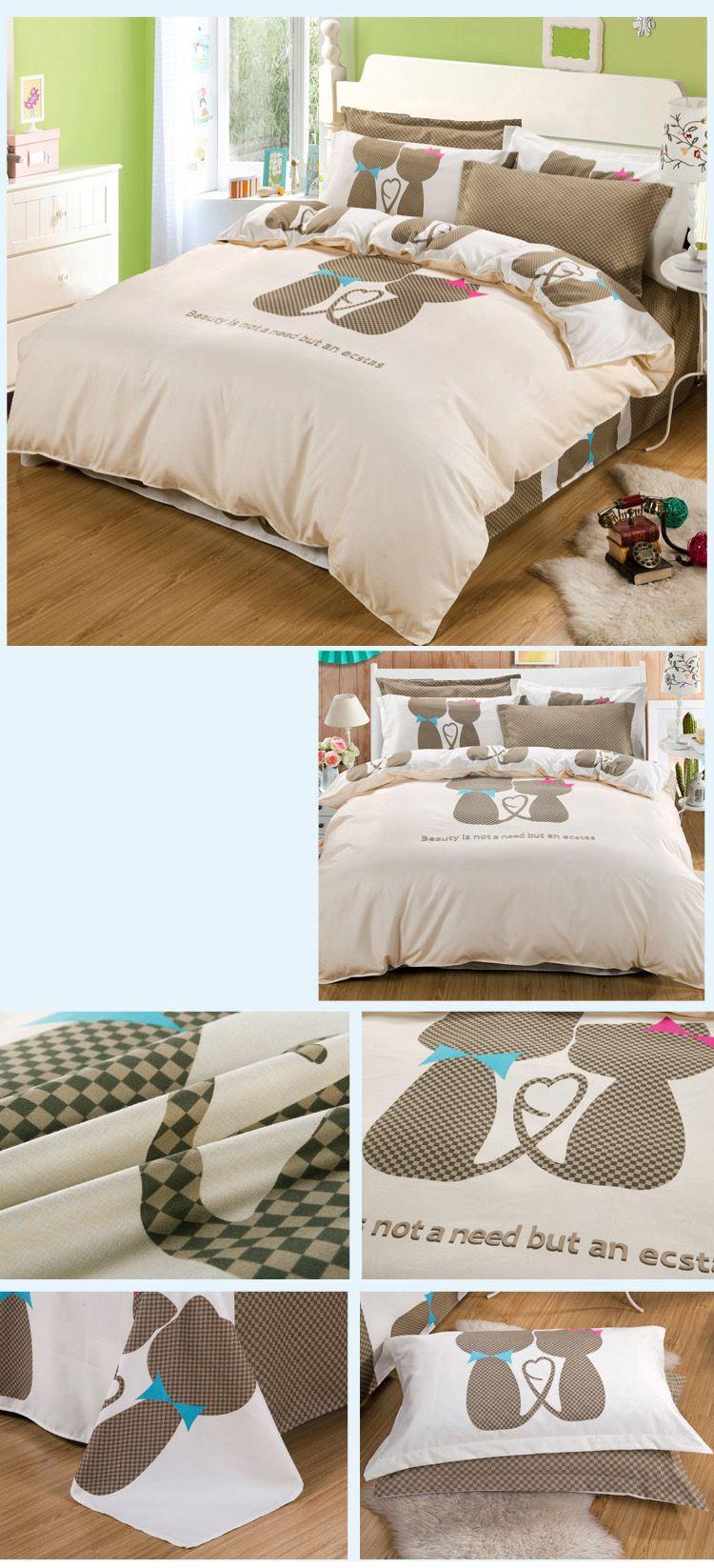 Autumn Fashion Bedding article  Four piece suit