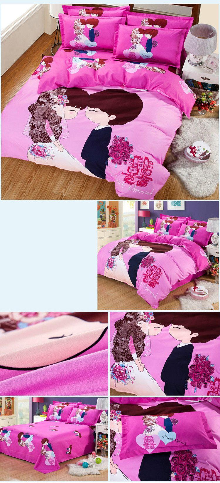 Autumn Edge set life  Pattern Bedding article Four piece suit