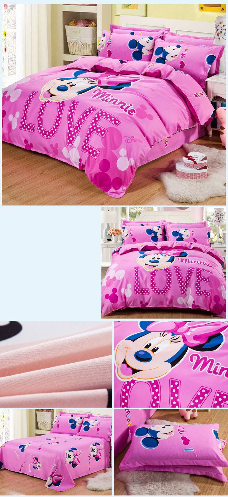 Autumn Mickey Mouse  Pattern Bedding article Four piece suit