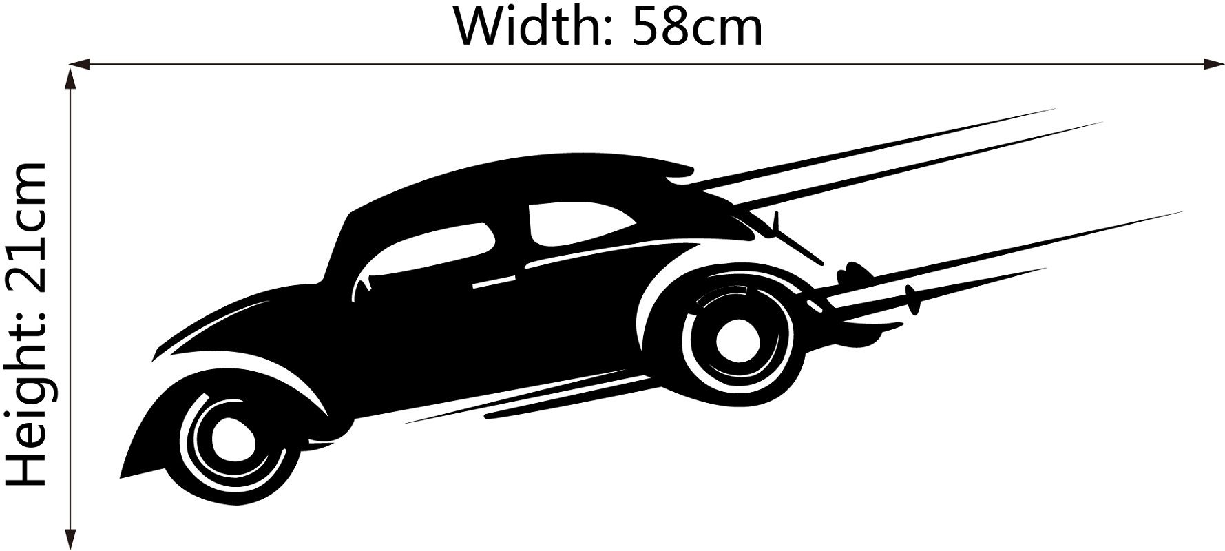DSU Speeding Car Simple Art Wall Stickers
