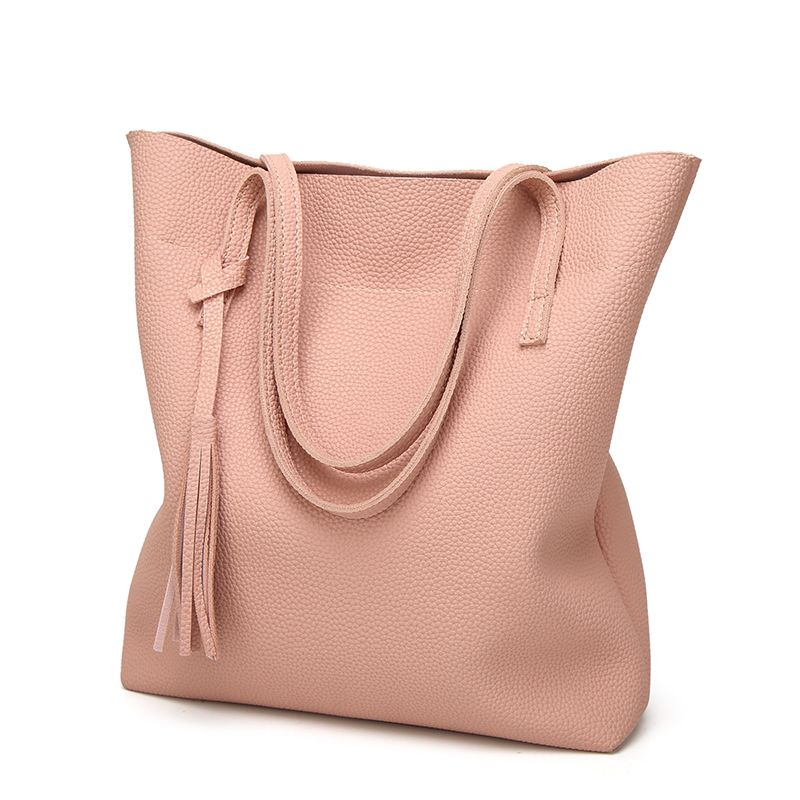 Contracted Handbag Tassel Shoulder Bag