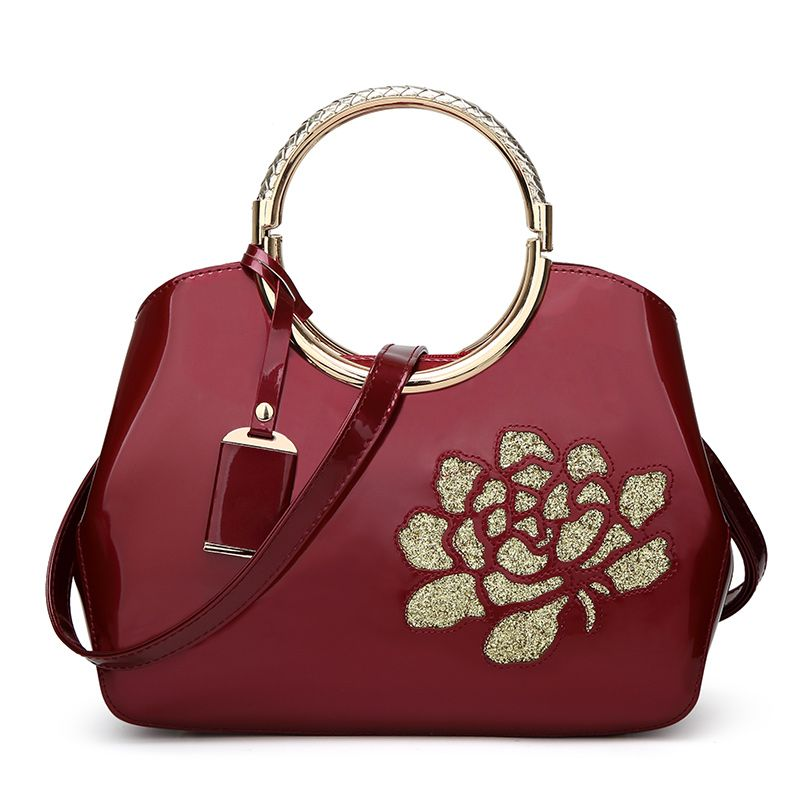 Elegant High-grade Patent Leather Dinner Bag Single-shoulder Female