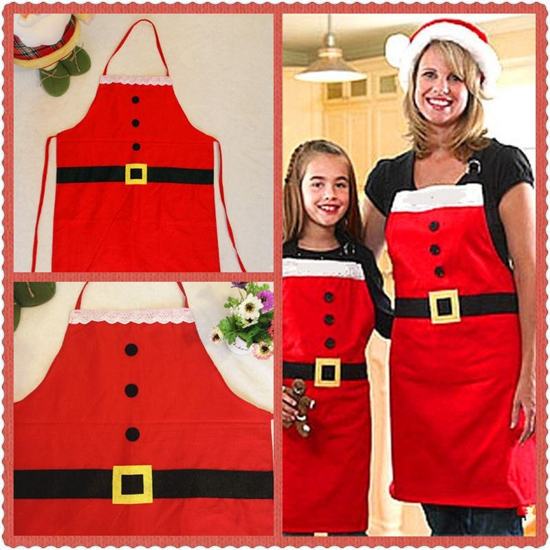 WS Cooking Apron Kitchen Tools Set Hot Selling Sleeveless Cloth Retro Apron Christmas Aprons for Wommen