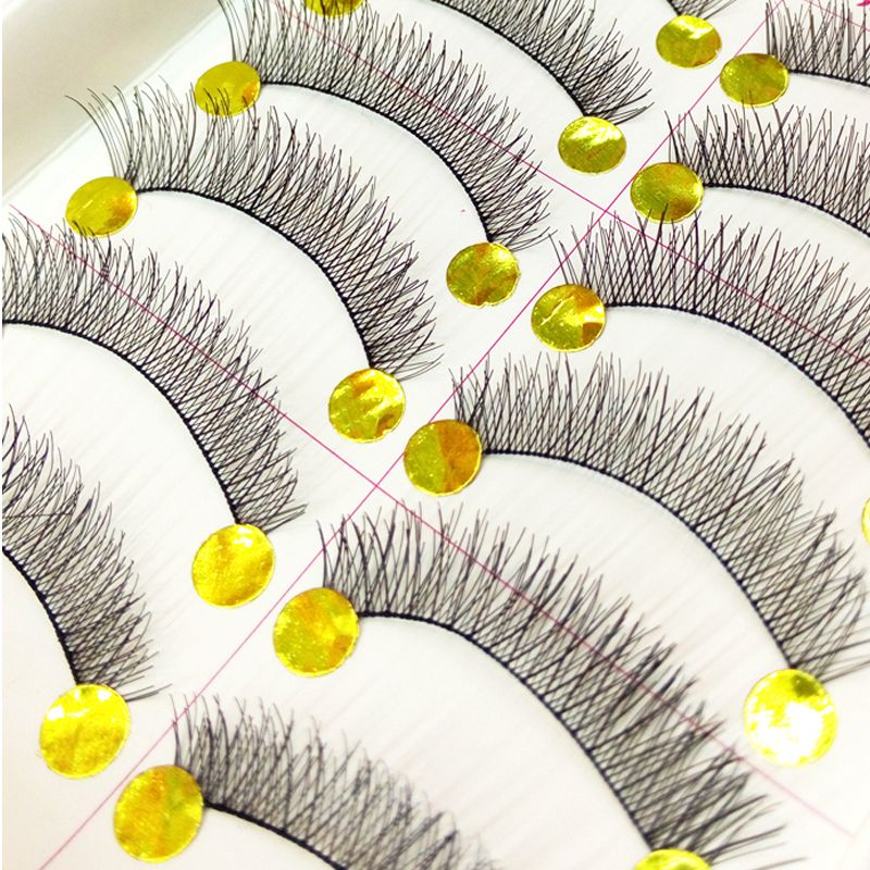Natural Pure Manual False Eyelash Cross and Glue and Auxiliary Device and Small Scissors Suits