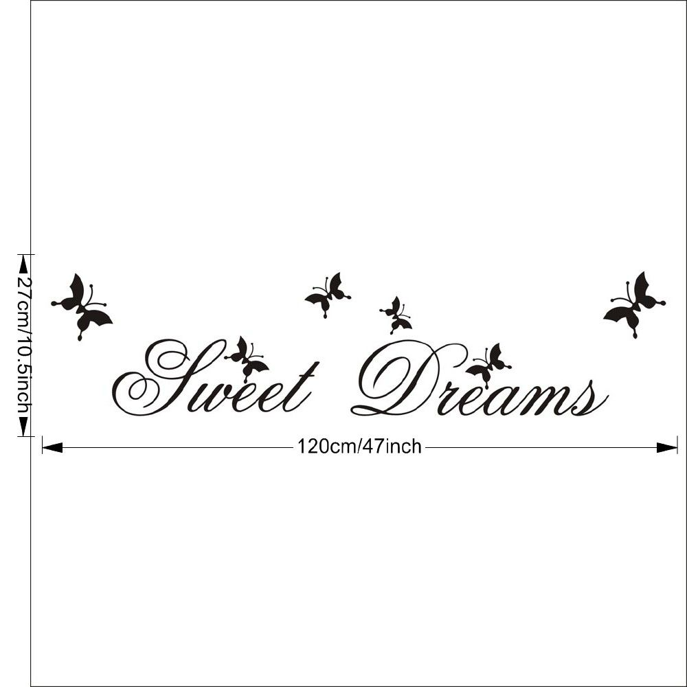 DSU Sweet Dream in Flying Butterflies Wall Sticker