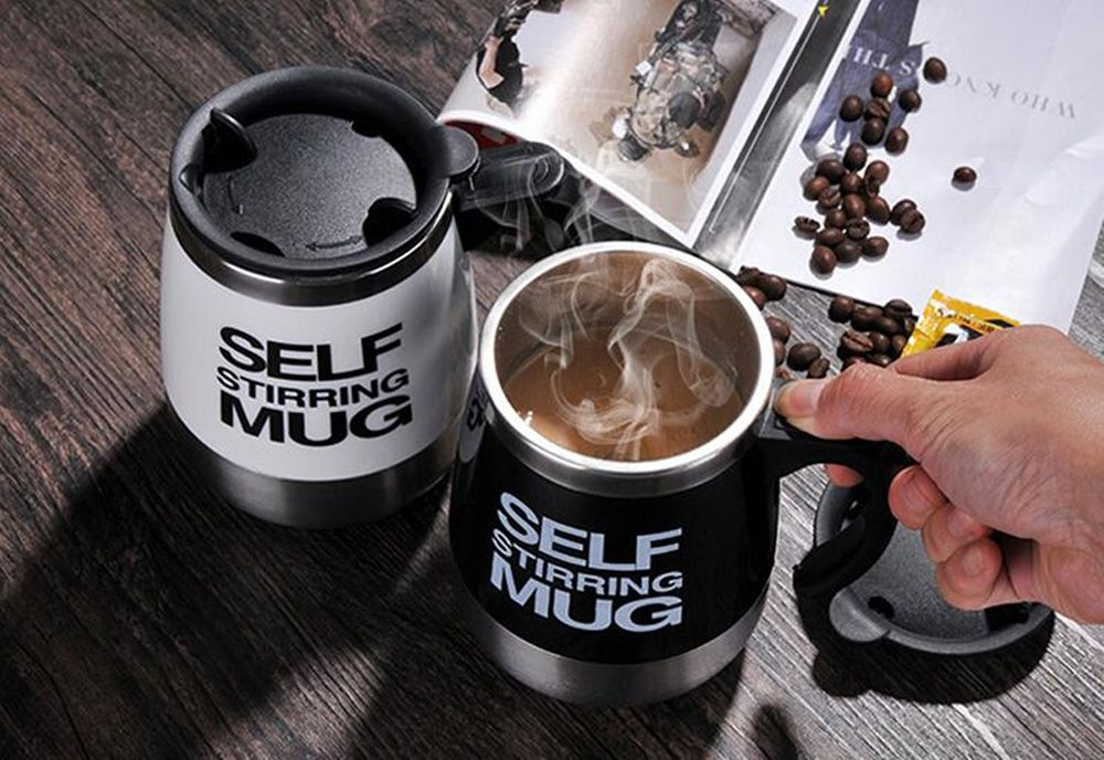 Stainless Steel Electric Automatic Shaker Milk Coffee Mix Bottle