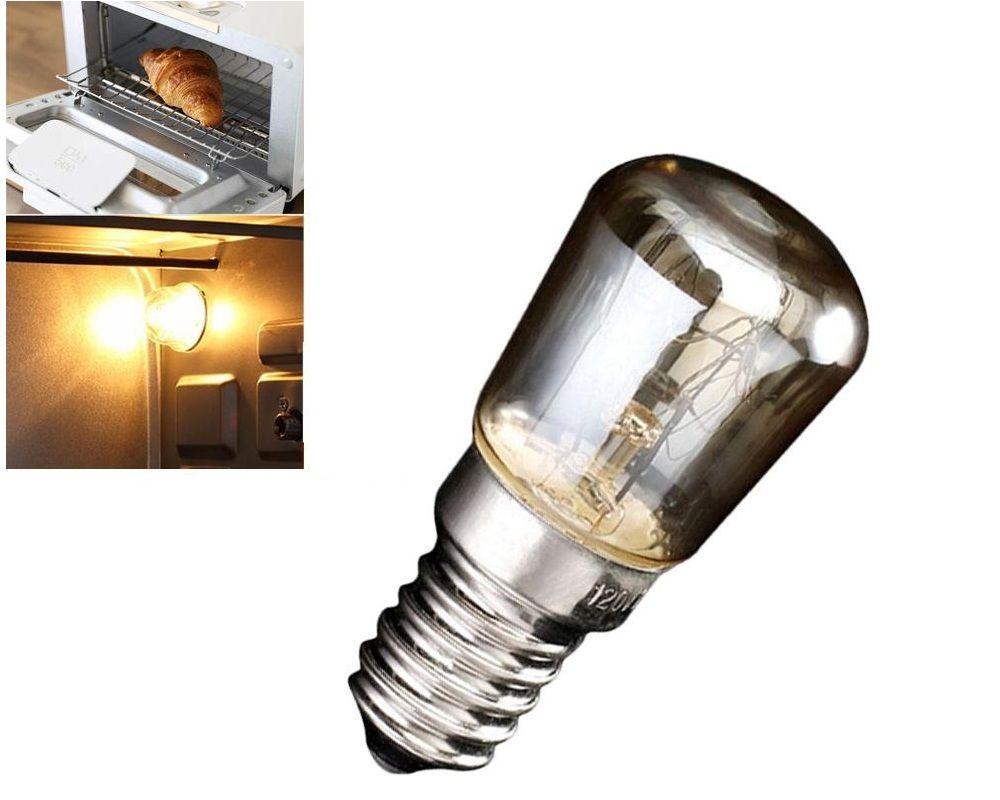 Oven Light Bulb E14 15W High Temperature 300 Degree Yellow Toaster Tungsten Filament Bulb
