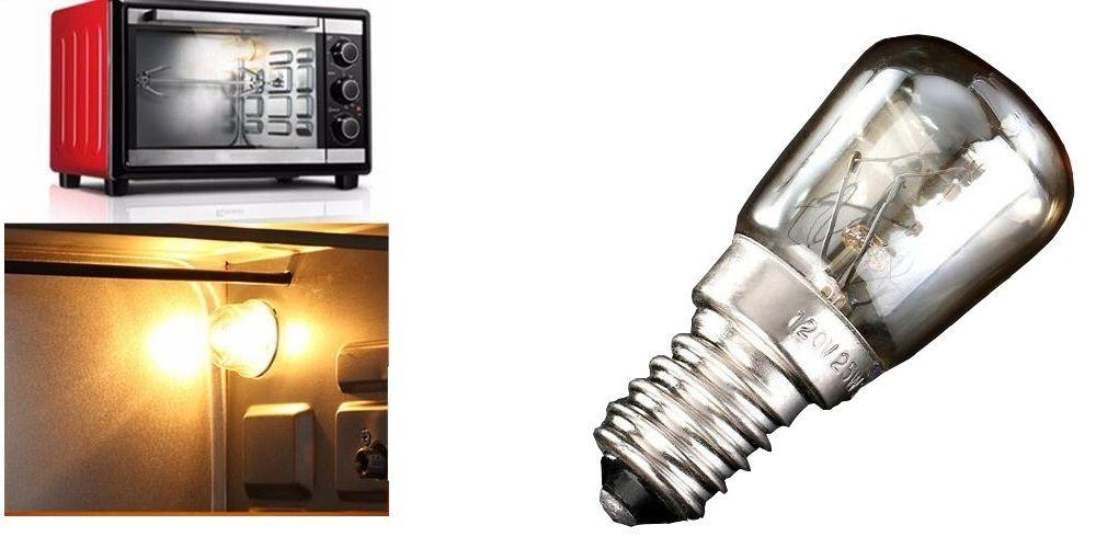 Oven Light Bulb E14 25W High Temperature 300 Degree Yellow Toaster Tungsten Filament Bulb