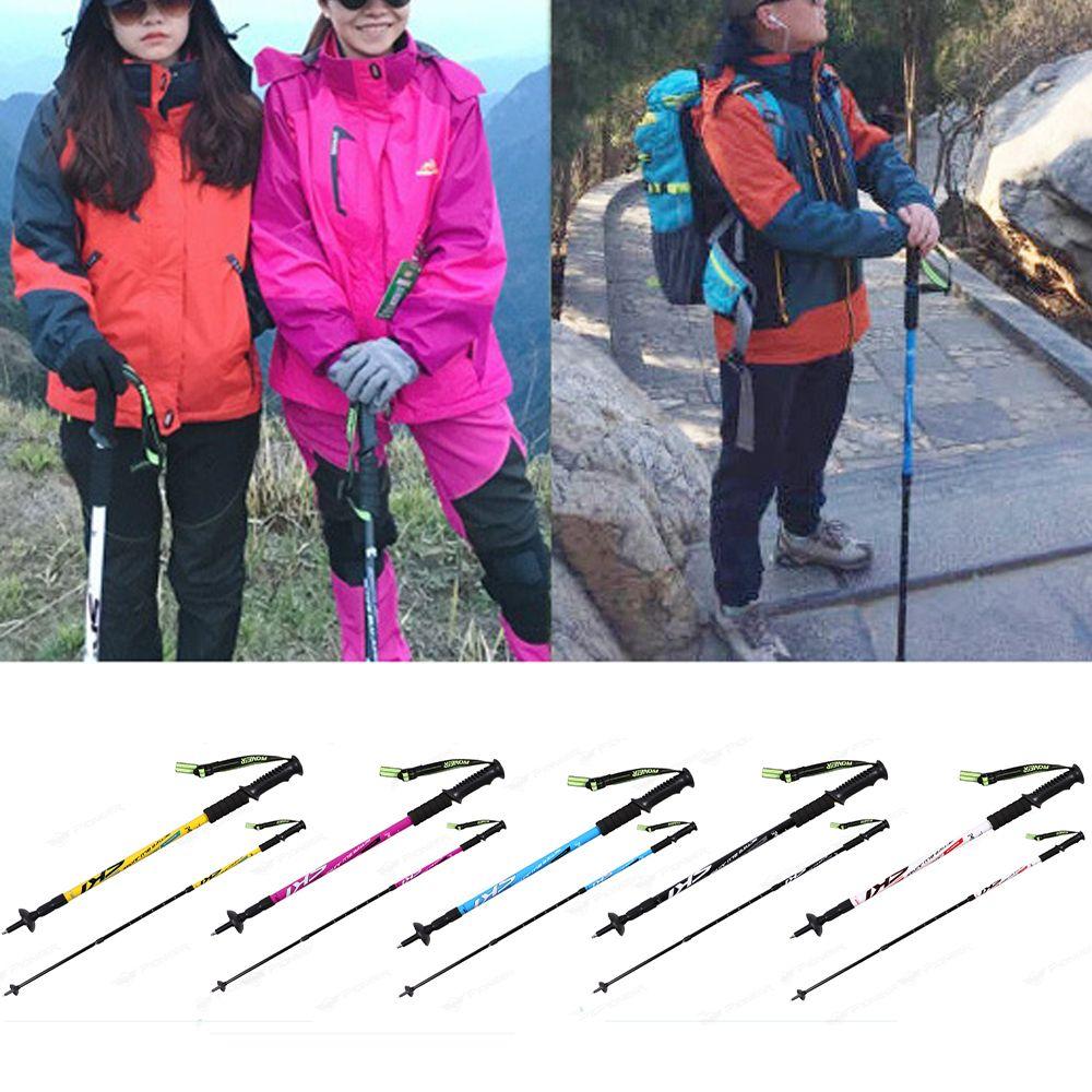 Trekking Poles Folding-Collapsible Hiking Poles Walking Stick