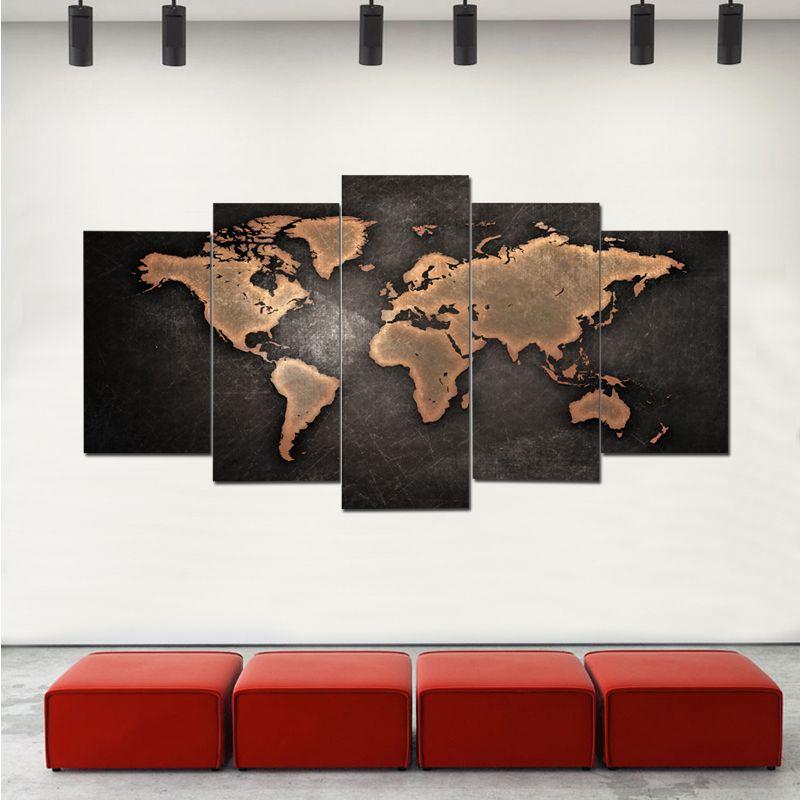 2018 world map canvas prints 5 pcs colorful x cm x cm x cm in world map canvas prints 5 pcs gumiabroncs Choice Image
