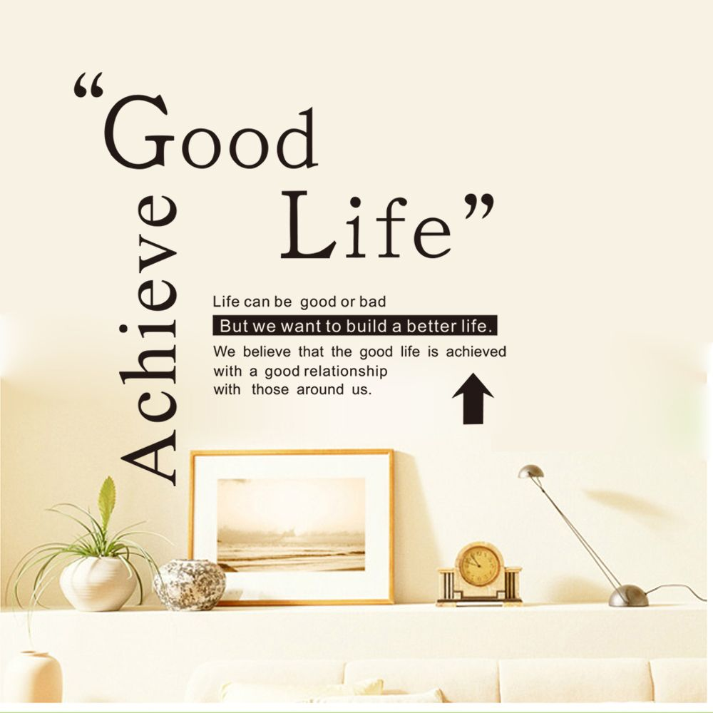 Good Life Quotes 2018 Dsu Good Life Wall Sticker Quotes English Motto Bedroom