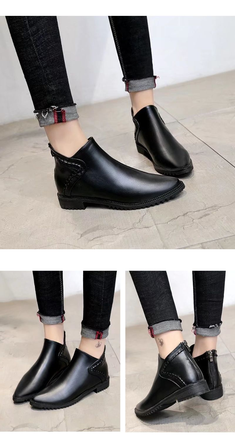 New Autumn Winter Bullock Acumination To Chelsea Short Tube Women Boots