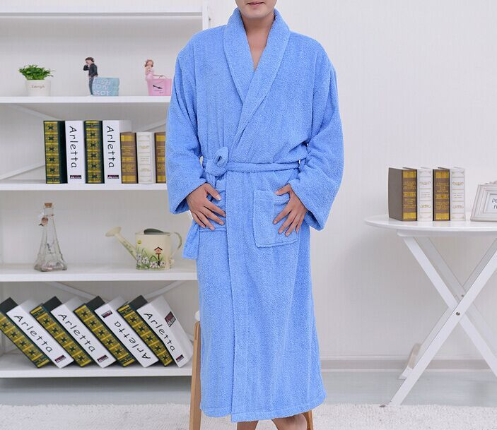 Thickened cotton towel bathrobe