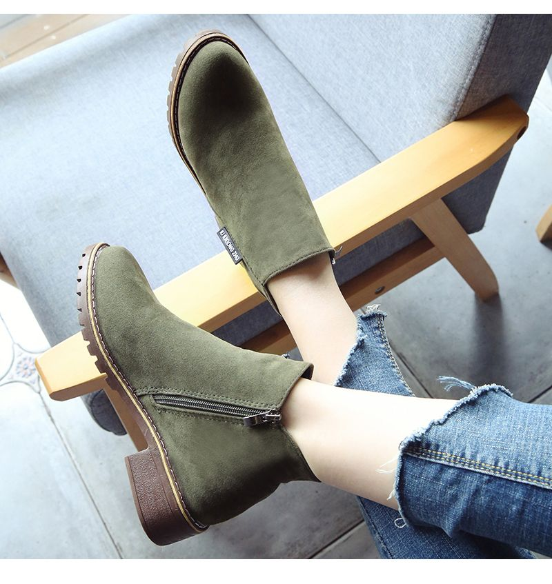 Winter New British Style Martin Short Boots Fashion Women's Shoes