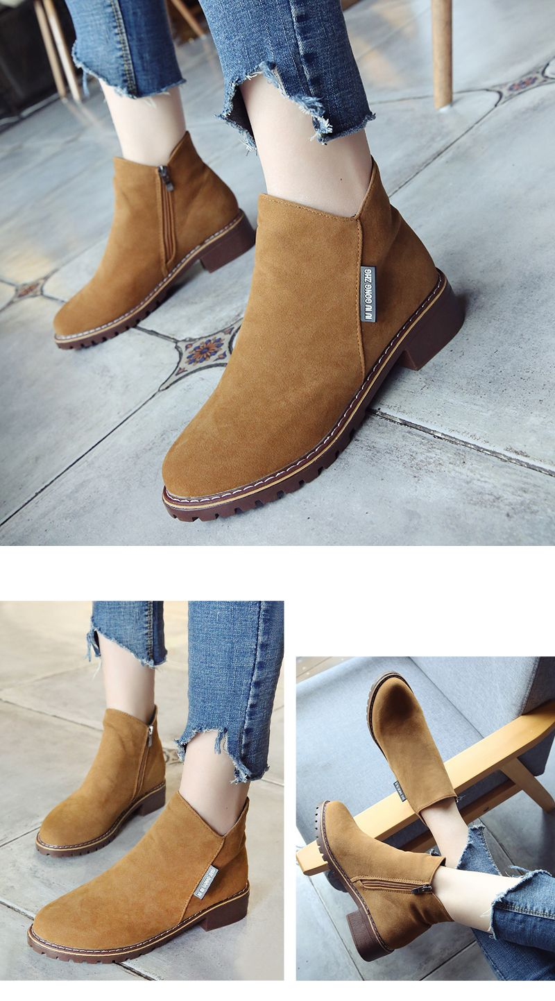 Winter New British Style Martin Short Boots Fashion Women's Shoes