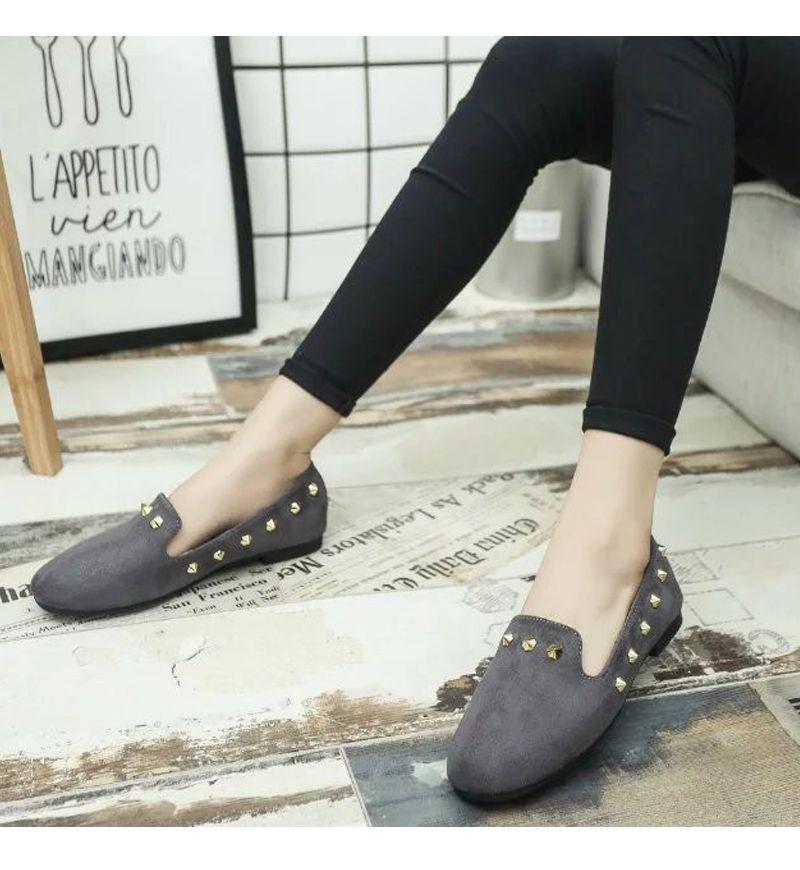 New Style Fashion Rivet Flat Keel Moccasin-Gommino Women Shoe
