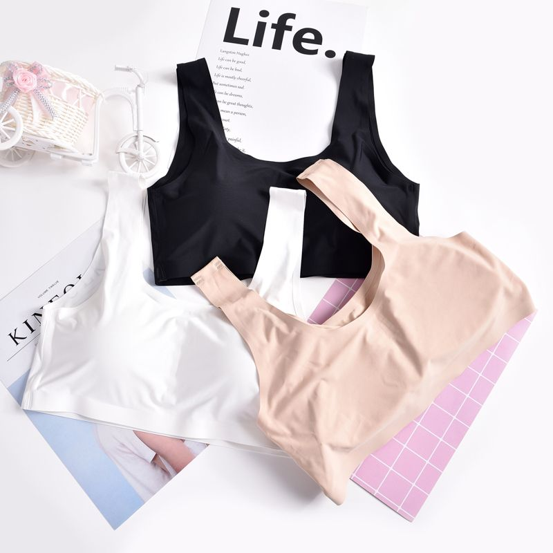 Ladies Sexy Casual Sleeveless Crop Top Underwear Comfortable Fabric Seamless Wrapped Chest