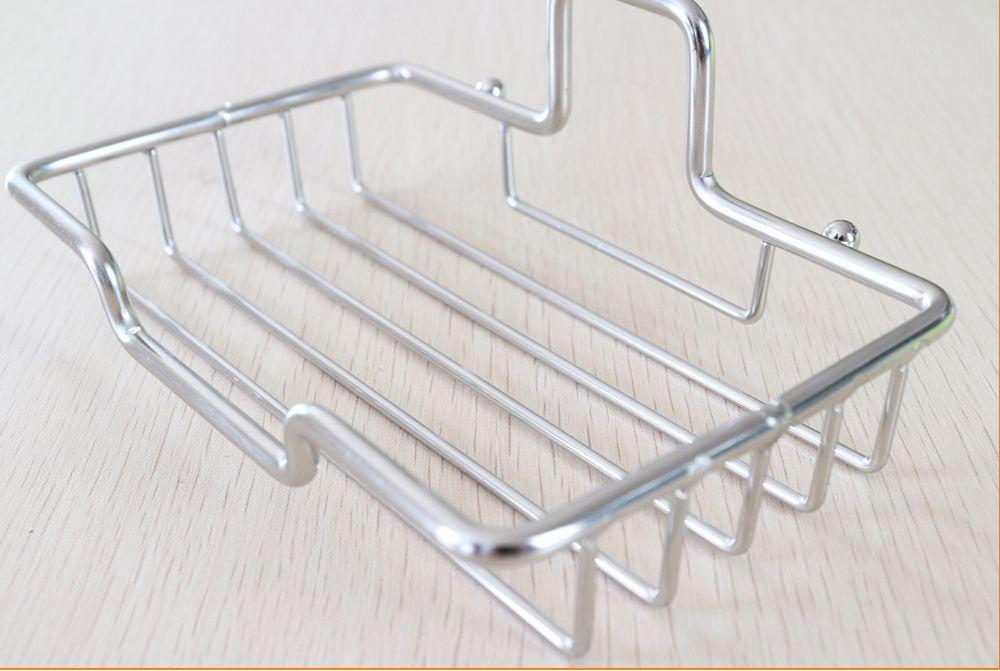 Soap Dish Bar Holder Self Adhesive Stainless Steel Easy Drain Design Saver for Shower or Bathroom