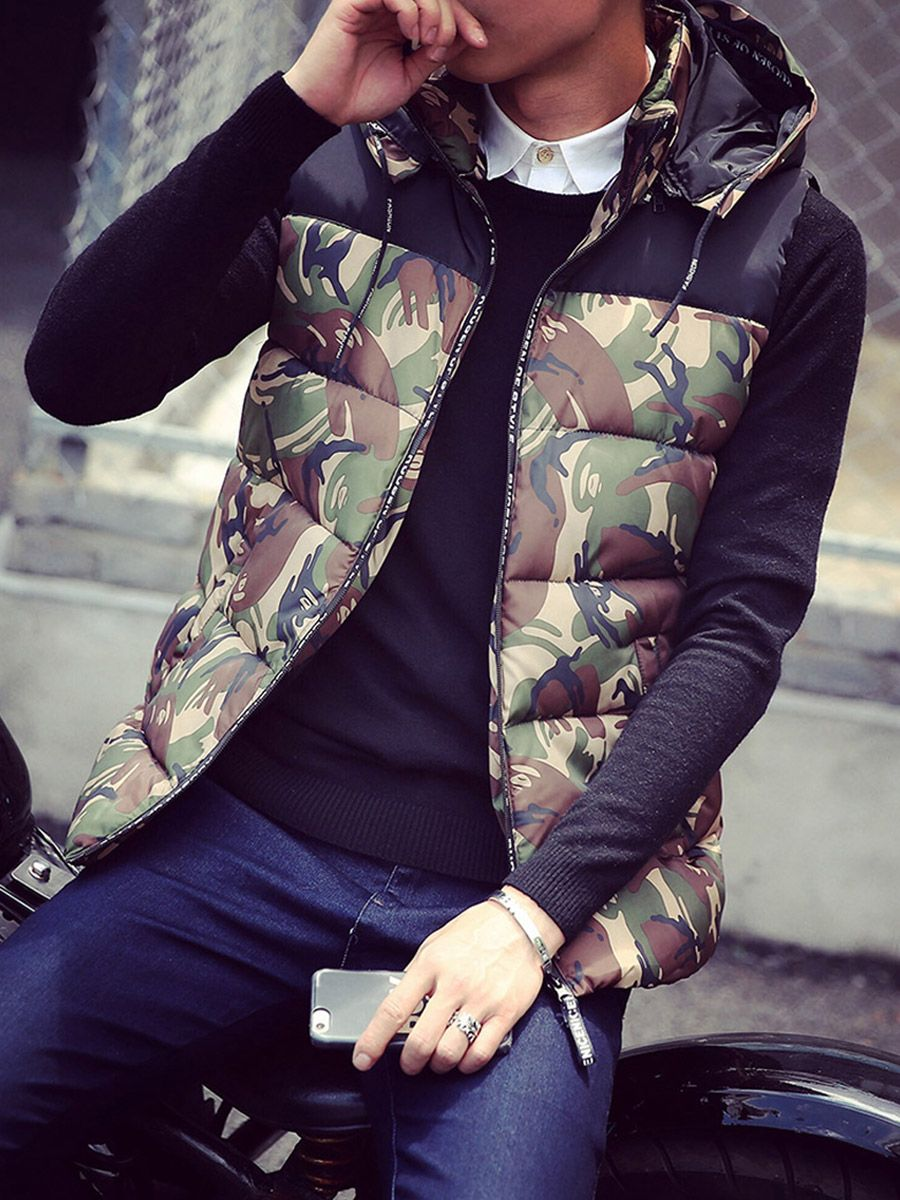Male and Female Couple Hooded Vest