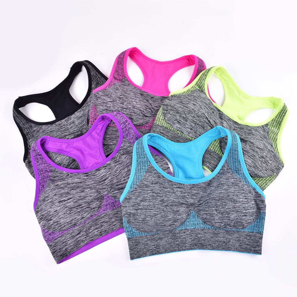 2017 Fashion Women Fitness Seamless Sports Bra Brrathable Qiuck Dry Fabric