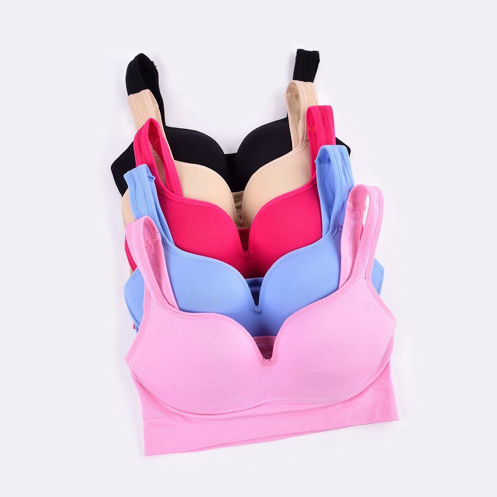 Sexy Ladies Push Up Sports Bra Nylon Seamless Fabric Cover