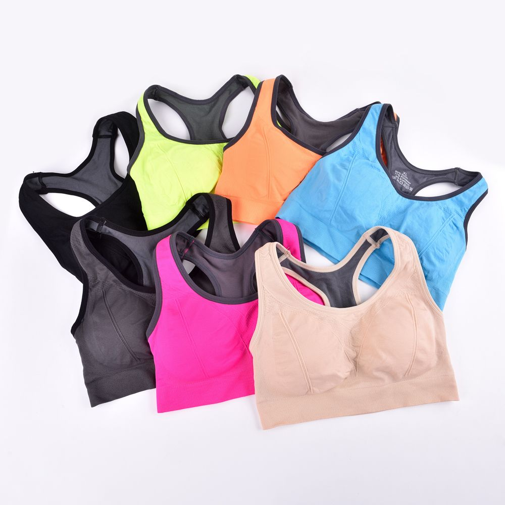 Comfortable Ladies Yoga Sports Bra Breathable Seamless Fabric Supportive