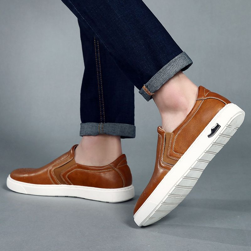 Bullock Men's Leisure Fashion Shoes Foot Thick Bottom Sleeve