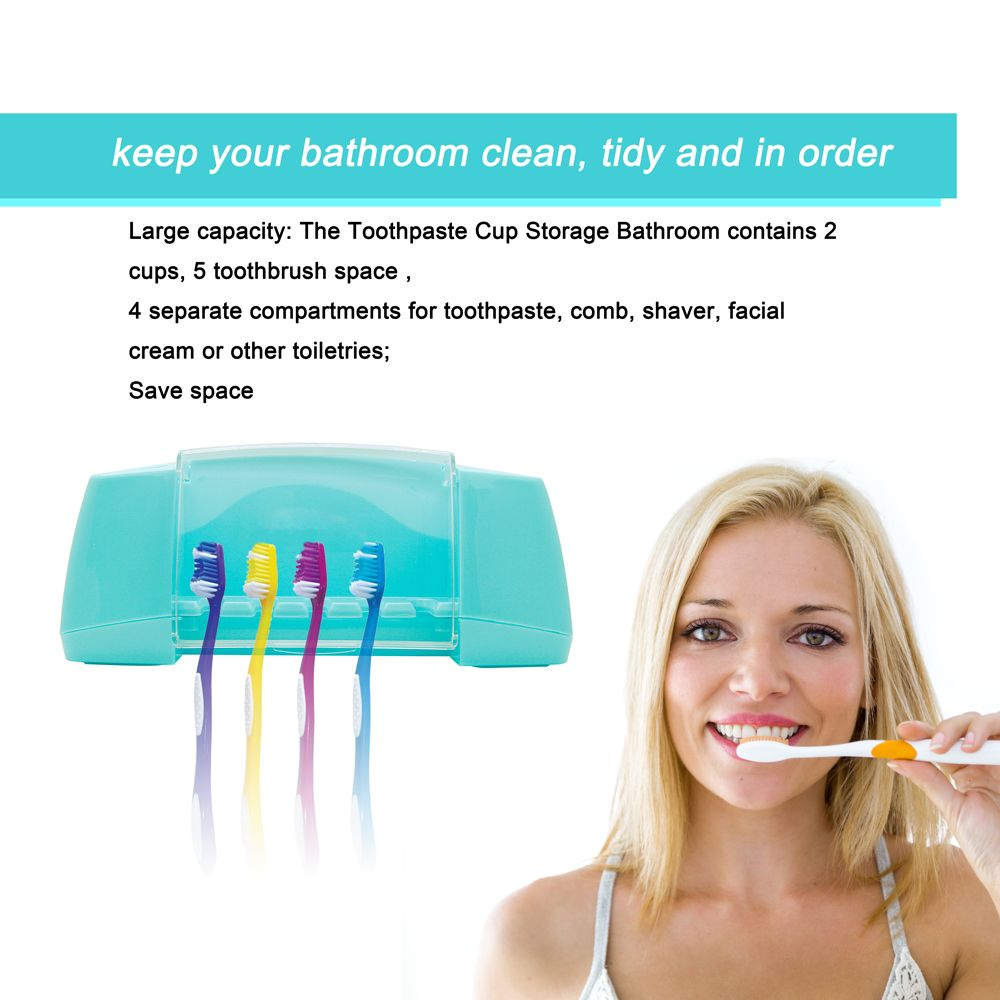 Atongm Tooth Brush Holder Set Available for 5 Toothbrushes