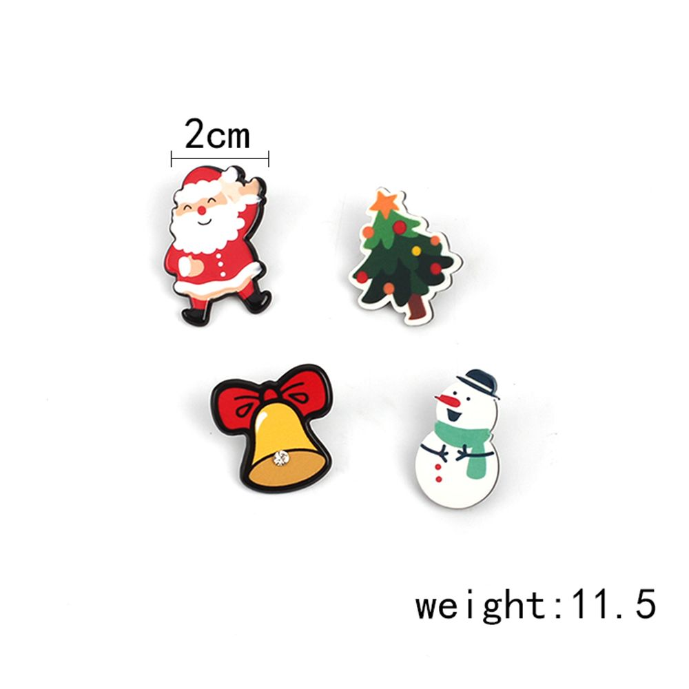 4pcs  Europe And The United States Popular Santa Claus Cartoon Series  Ladies Brooch