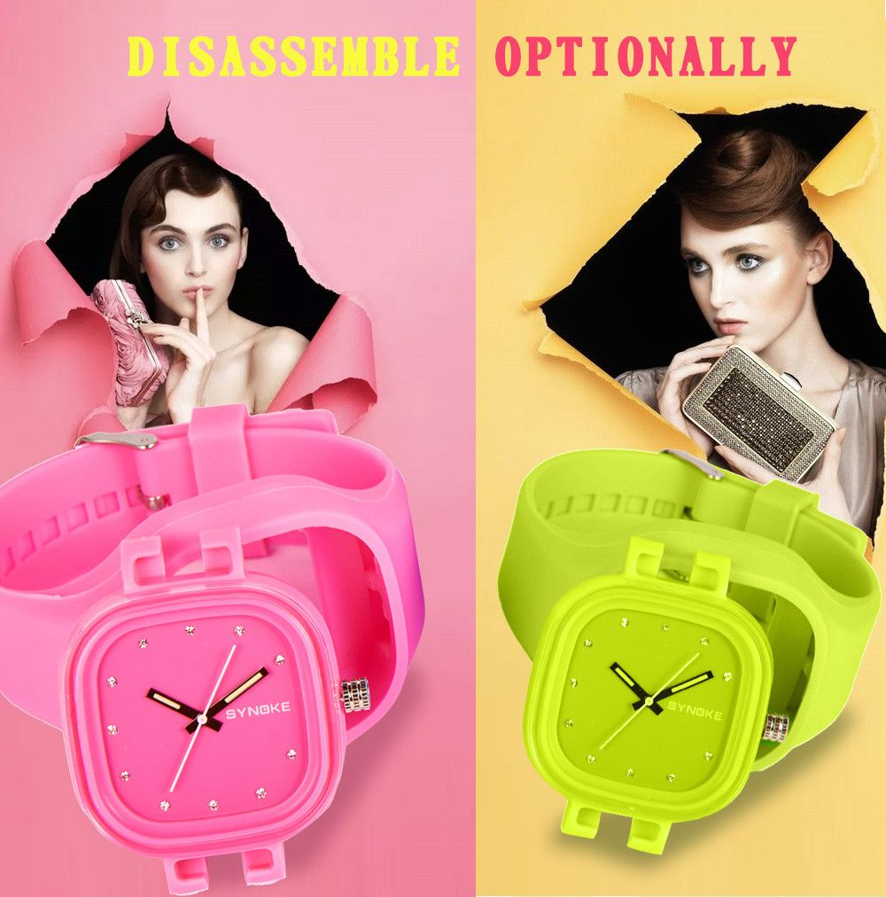 SYNOKE 4730 Fashion Leisure Sports Neutral Watch Crystal Embedded with Box