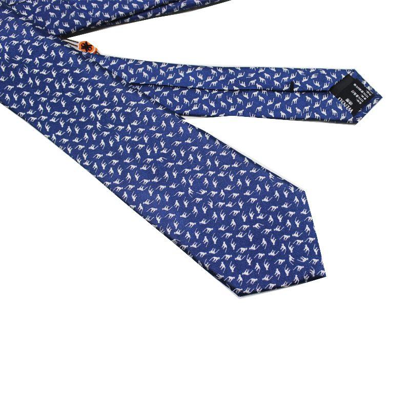 Fashion Silk Tie Animal Pattern Jacquard Men's Necktie for Business Wedding Party