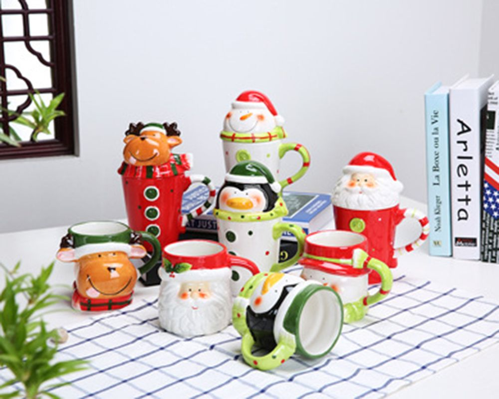 400ML Animal Cartoon Christmas Cup