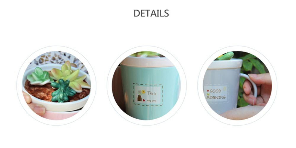 275ML Plants Ceramic Cup